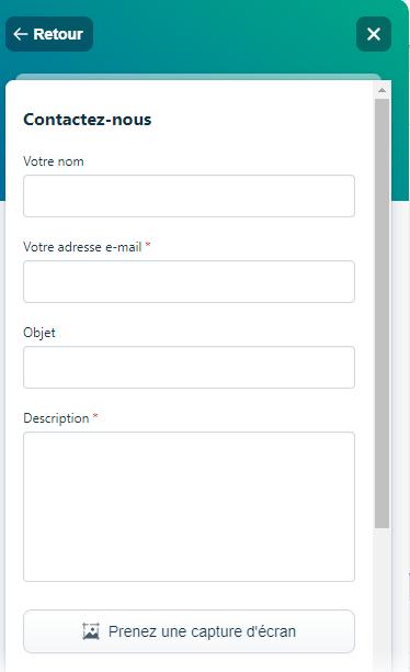 Remplissez le formulaire